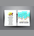 business report cover abstract template vector image vector image