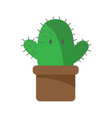 cactus cartoon character hugs on white background vector image
