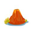 cartoon hot volcano with magma and lava vulcano vector image vector image