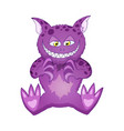 cat like demon cartoon character for kid happy vector image