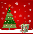 christmas tree with gifts and candys red vector image