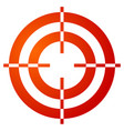 colored crosshair reticle target mark shape on vector image