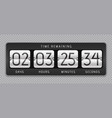 countdown flip clock digital counter analog time vector image