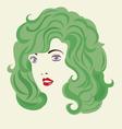 Curly Hair Woman Hair Style vector image