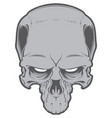decrepit evil cartoon skull isolated on white vector image vector image