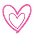 double pink heart vector image vector image