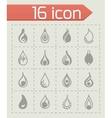 Drop icon set vector image vector image