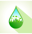 Ecology concept with water drop stock vector image vector image
