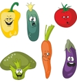 Emotion cartoon vegetables set 011 vector image vector image