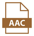 file name extension aac type vector image vector image