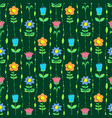floral seamless pattern with tranparency elements vector image vector image