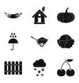 Garnish icons set simple style