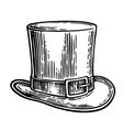 Gentlemen hat vintage engraved vector image vector image