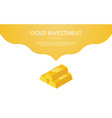 gold investment finance concept theme for vector image