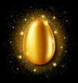 golden egg realistic easter greeting card vector image