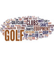 golf tip text background word cloud concept vector image vector image