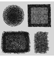 Hand drawn sketches rough hatching grunge texture vector image vector image