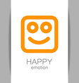 happy emotion template vector image vector image