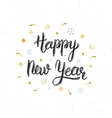Happy New Year hand written modern brush lettering vector image vector image