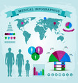 health care infographics vector image vector image