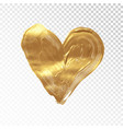 heart hand painted golden background vector image vector image