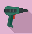 home electric drill icon flat style vector image vector image