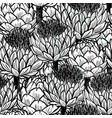 ink hand drawn artichokes seamless patterns black vector image