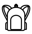 isolated travel bag icon vector image