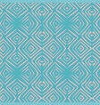 linocut rhombus turquoise seamless pattern vector image