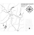 map of covington county in alabama vector image
