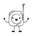 measure tape icon monochrome cartoon blurred vector image vector image