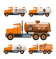 milk tank trucks vector image