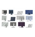 monitor set different types modern vector image vector image