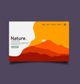 nature landing pageweb template vector image vector image