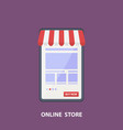 phone store flat design shopping concept vector image
