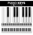 piano keyboard realistic isolated vector image