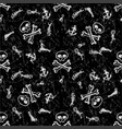seamless pattern pirates hand drawing vector image vector image