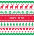 selamat natal - merry christmas in inonesian greet vector image vector image