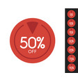 set sale price off icons red circle with white vector image