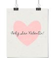 Spanish st valentines day poster vintage design