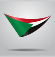 sudanese flag background vector image vector image