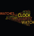 the modern watches and precise clocks part of vector image vector image