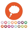 The speech bubble icon Talk symbol Flat vector image