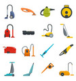vacuum cleaner washing icons set flat style vector image vector image