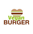 vegan burger vector image