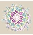 Vintage doodle flower vector image vector image