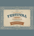 vintage fourth of july festival background vector image vector image