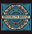 vintage new york brooklyn t-shirt vector image vector image