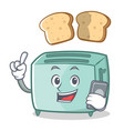 with phone toaster character cartoon style vector image vector image