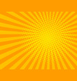 yellow halftone background vector image